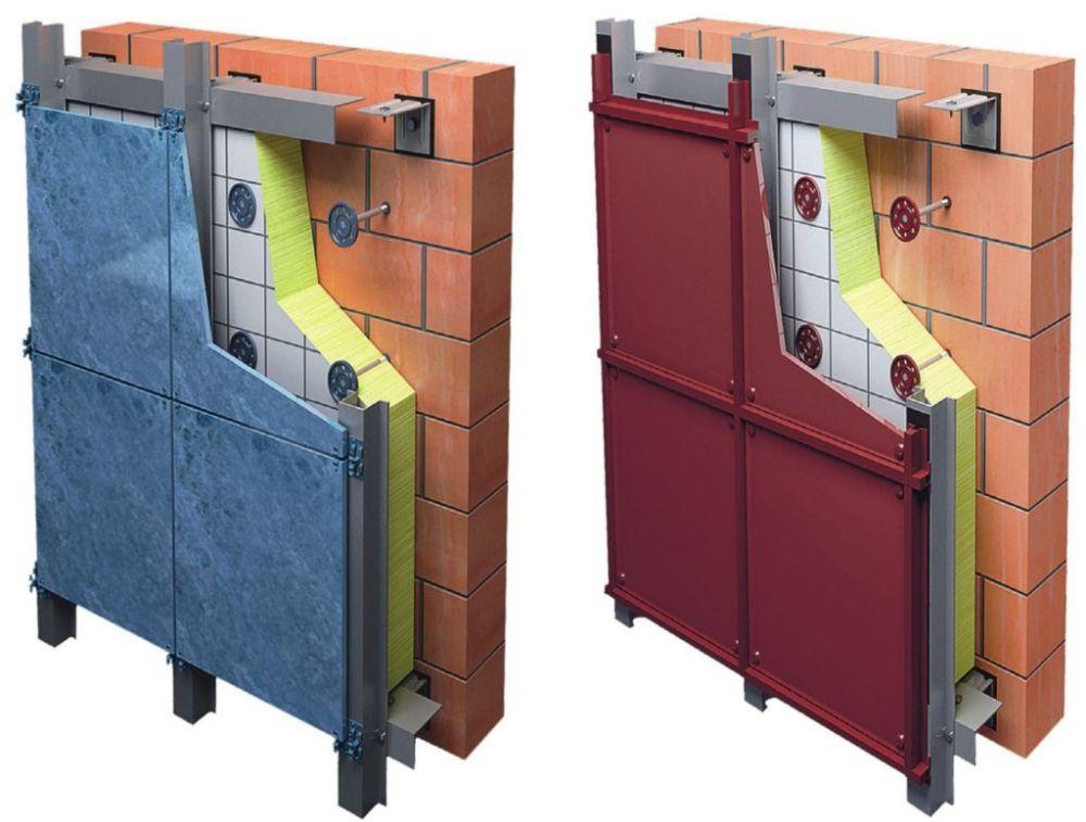 Вентилируемый фасад - технология и конструкция